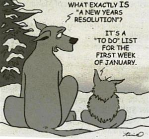 New Year's Resolution cartoon