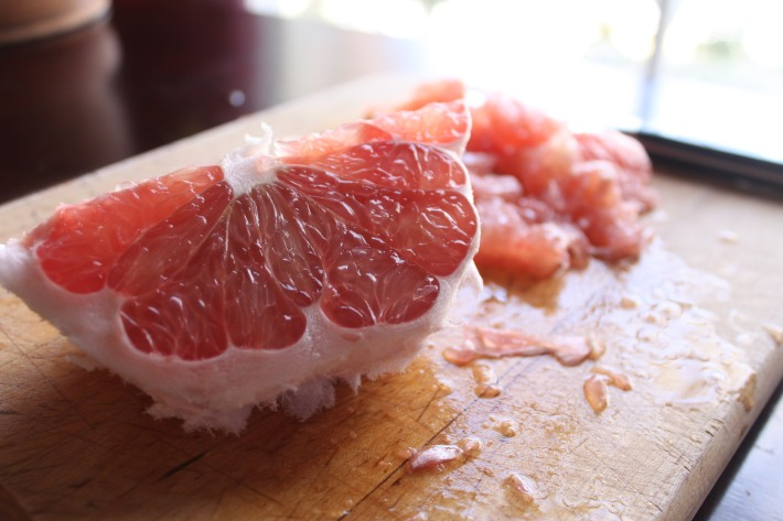 Pomelo wedge