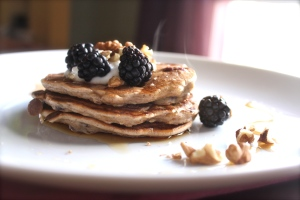 Steamy Fruit & Nut Pancakes