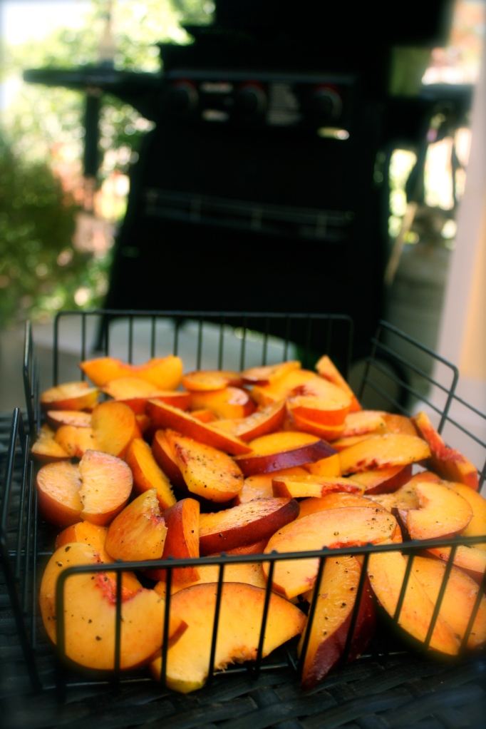 Peaches with grill