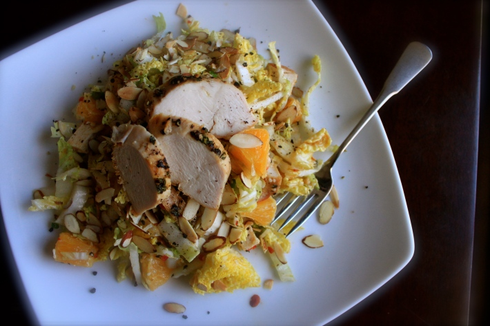 Chicken, Cabbage & Orange Salad