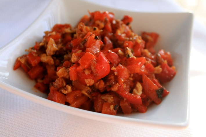 Red Pepper Walnut Relish