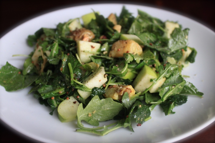 Salad with Potatoes, Apples & Hazelnuts