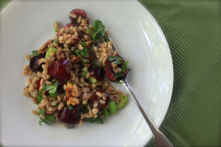 Farro, Cherry & Walnut Salad